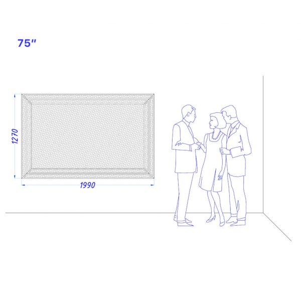 "Встроенный телевизор Tele-Art 75"" Q70B"