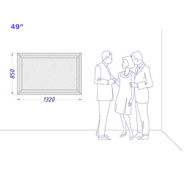 "Встроенный телевизор Tele-Art 49"" Q70M"