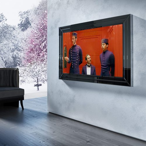 Зеркальный телевизор Tele-Art Crystal Frame 65″ Q6B Black Mirror