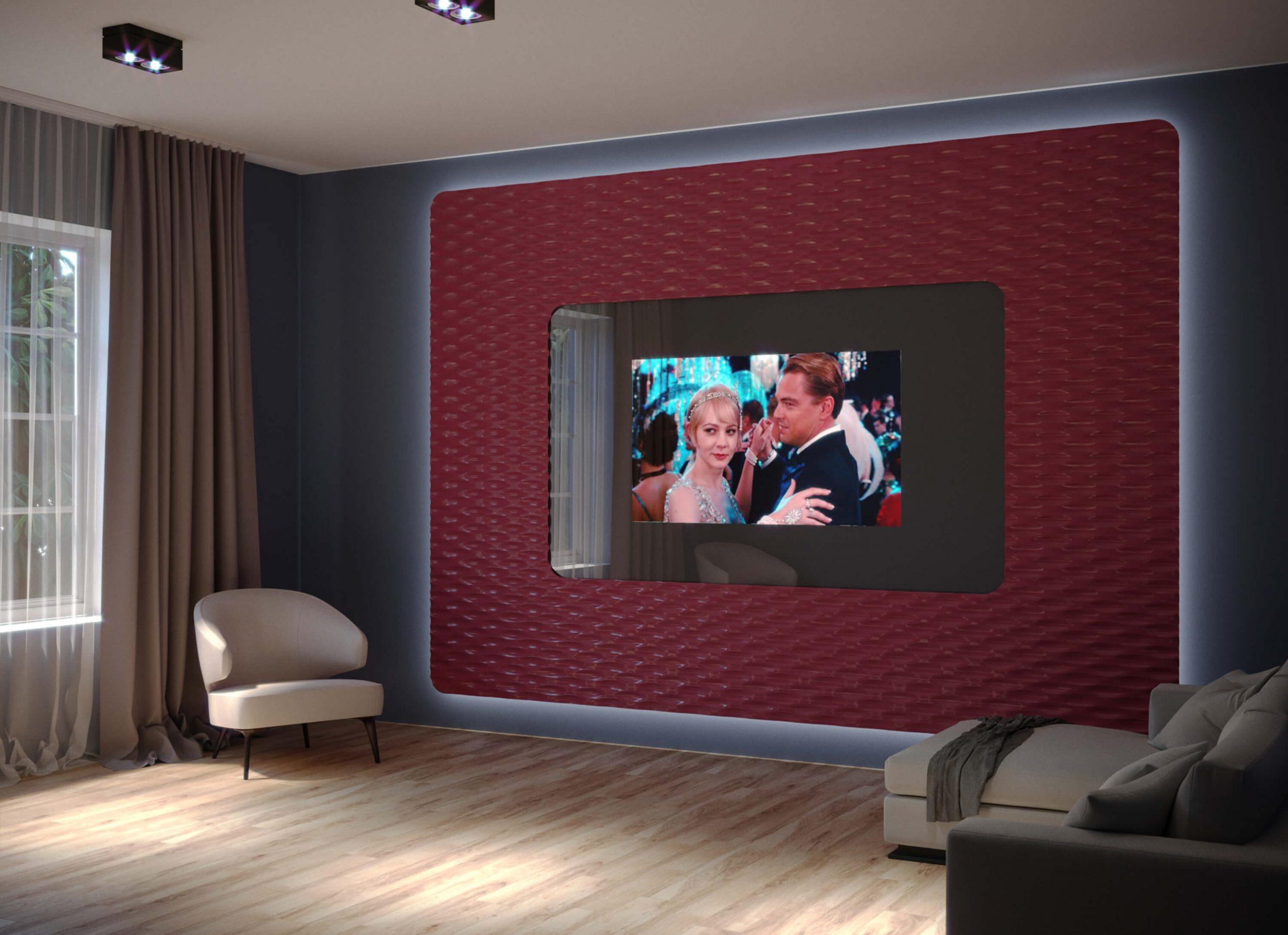 Дизайнерский встроенный телевизор Tele-Art с панелями Leto 1