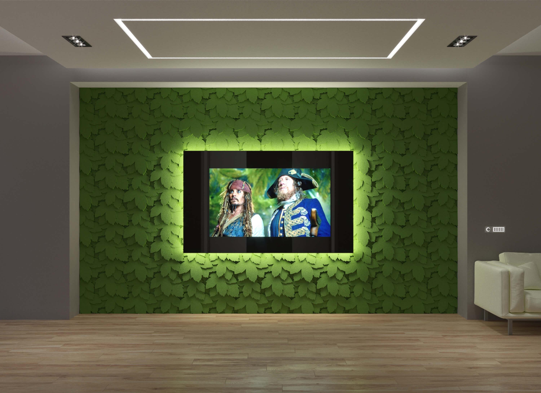 Дизайнерский встроенный телевизор Tele-Art с панелями Leto 2