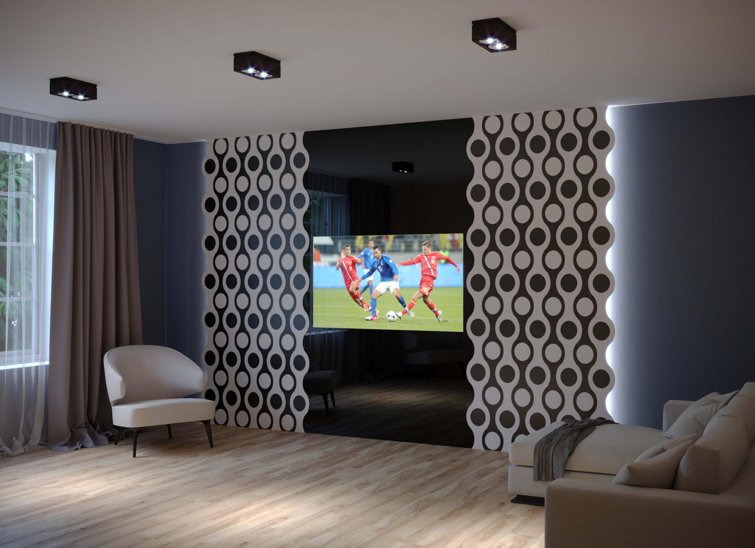 Дизайнерский встроенный телевизор Tele-Art с панелями Leto 3