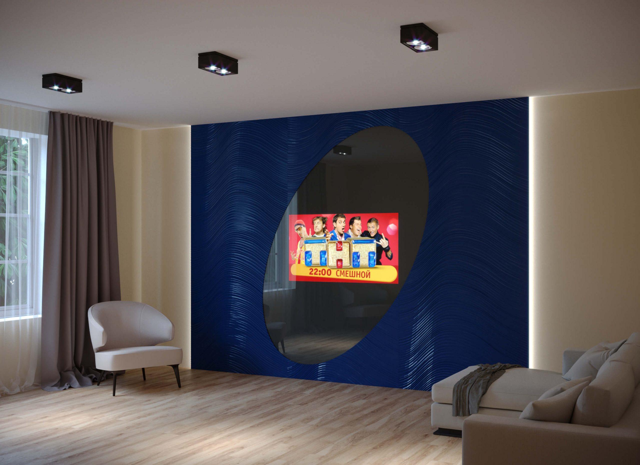 Дизайнерский встроенный телевизор Tele-Art с панелями Leto 4