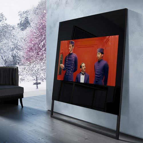 Встроенный телевизор Tele-Art Soft Minimalism 75″ Q6SM Black Glass