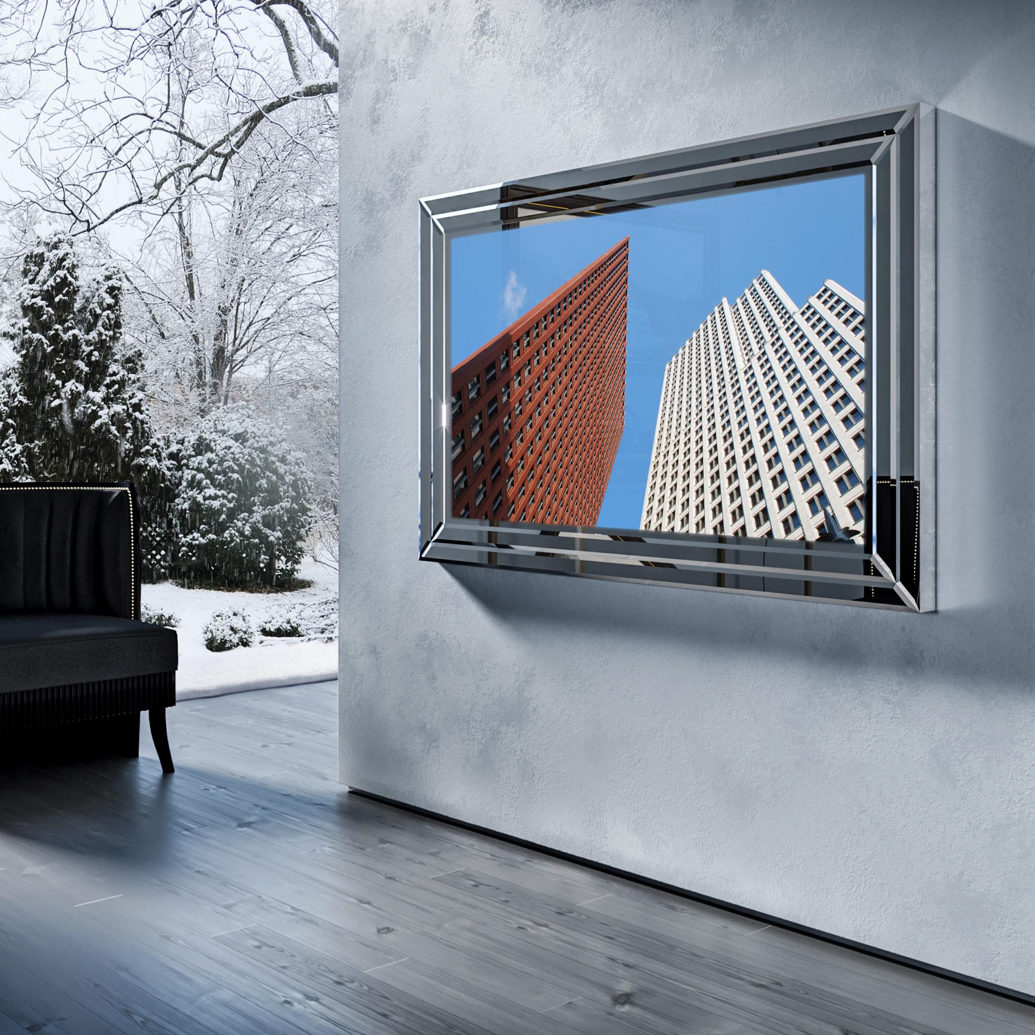 Зеркальный телевизор Tele-Art Q70B Crystal Frame Grafit Mirror