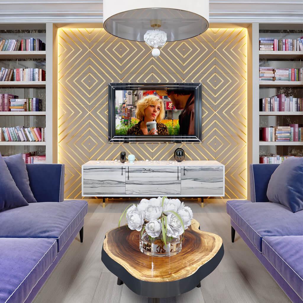 Зеркальный телевизор Tele-Art QBM спереди