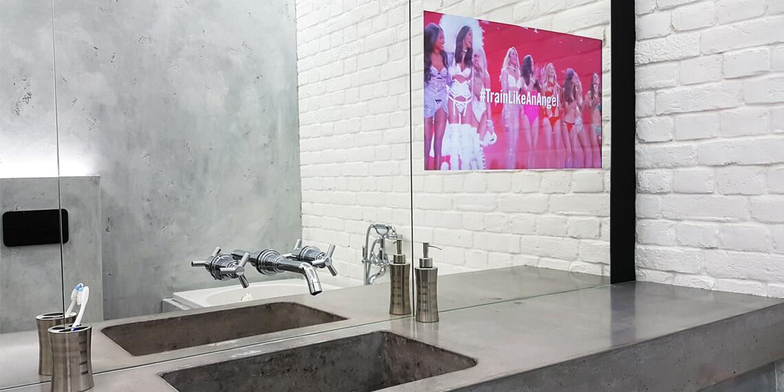 Встроенный телевизор для ванной комнаты