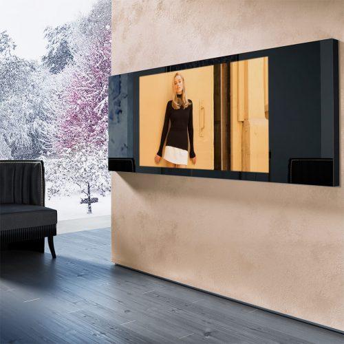 Зеркальный телевизор Tele-Art Mirror Line 75″ Q6W Black Mirror