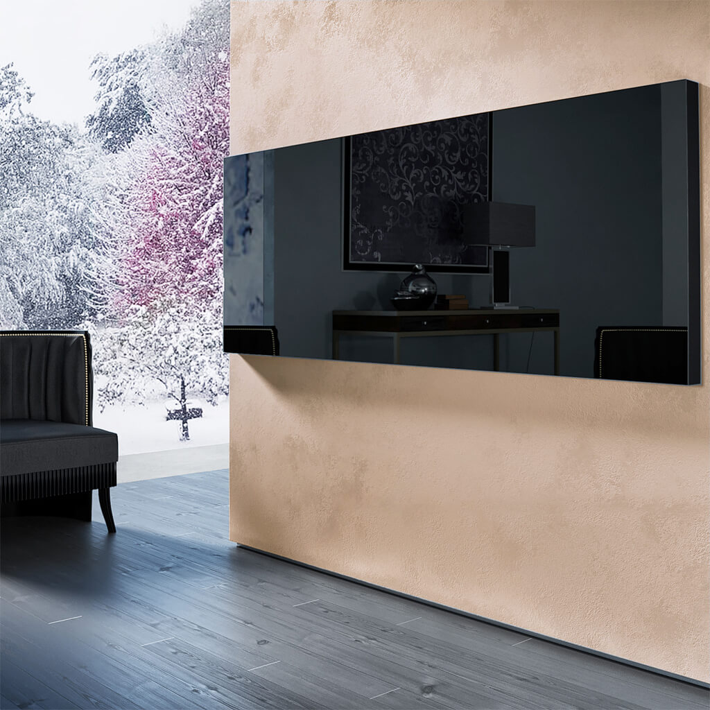 Зеркальный телевизор Tele-Art Q6W Black Mirror выключен
