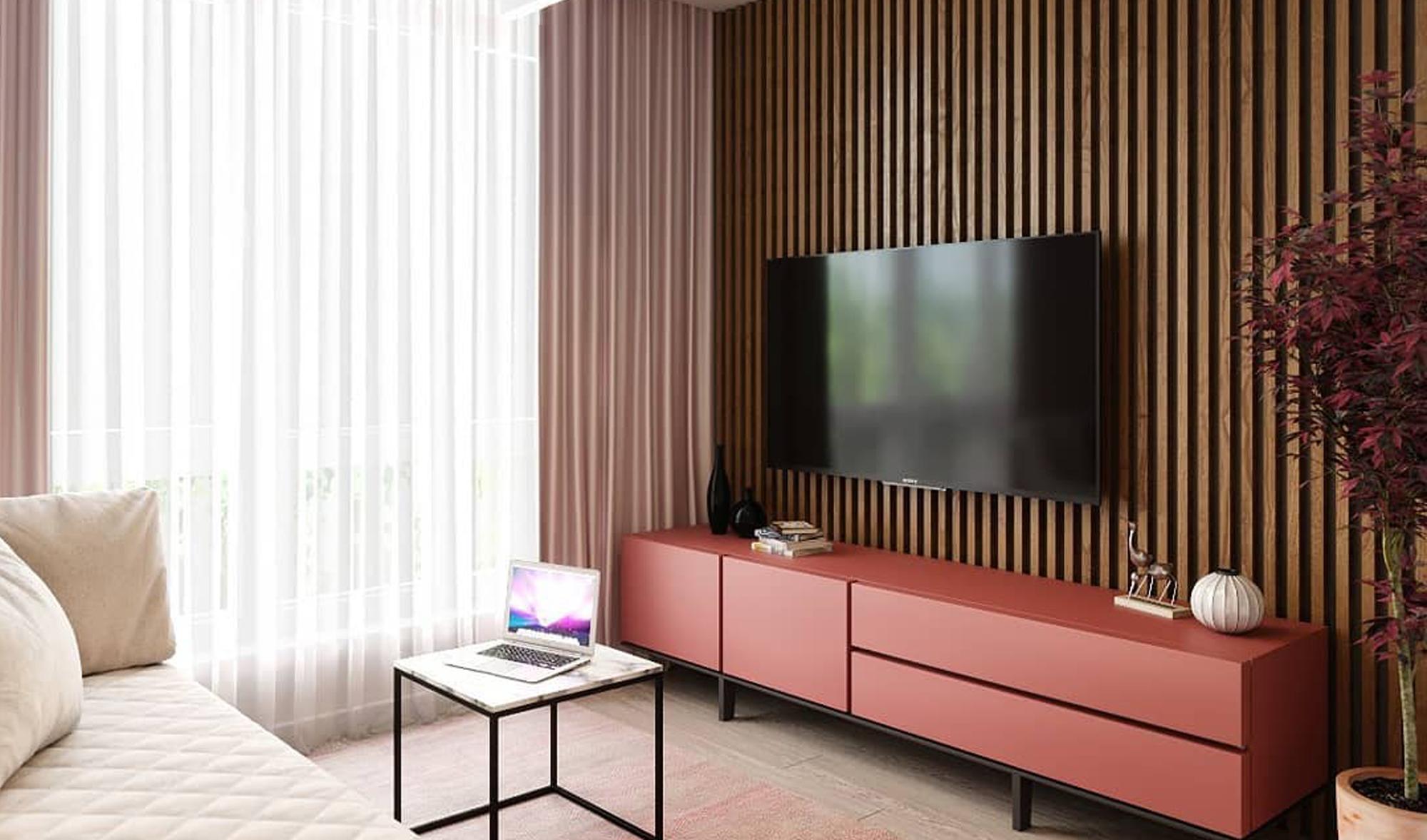Деревянные рейки с ТВ 11