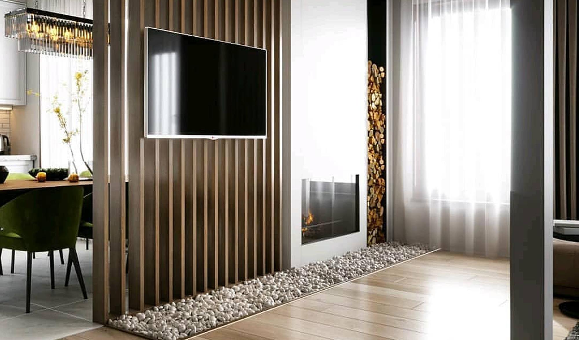 Деревянные рейки с ТВ 9