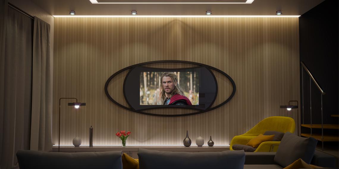Дизайнерский телевизор с рейками