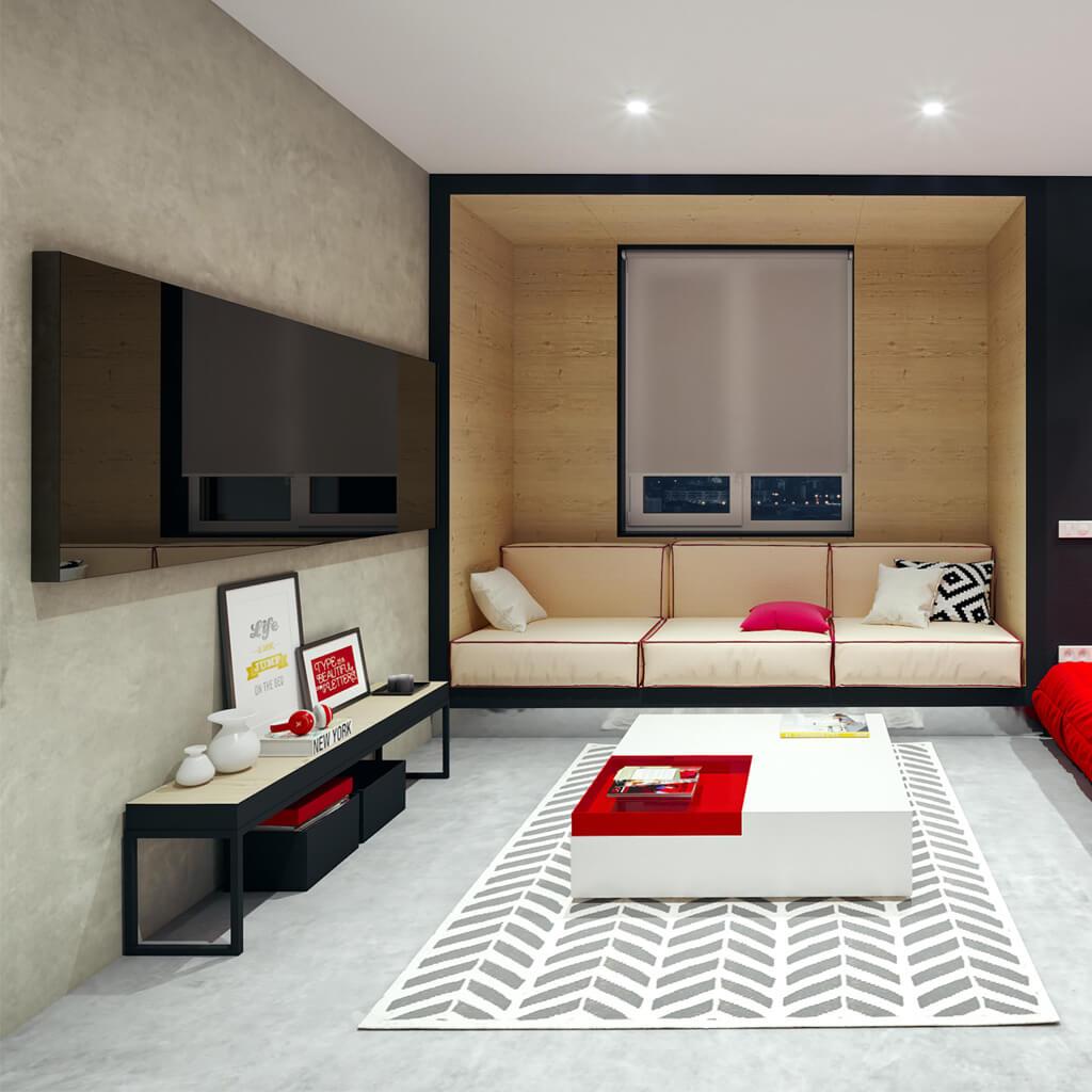 Зеркальный телевизор Tele-Art 49″ Q6W Black Mirror для гостиной