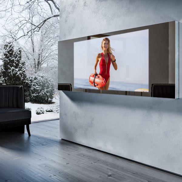 Зеркальный телевизор Tele-Art Q70W Line Mirror Bronze Mirror