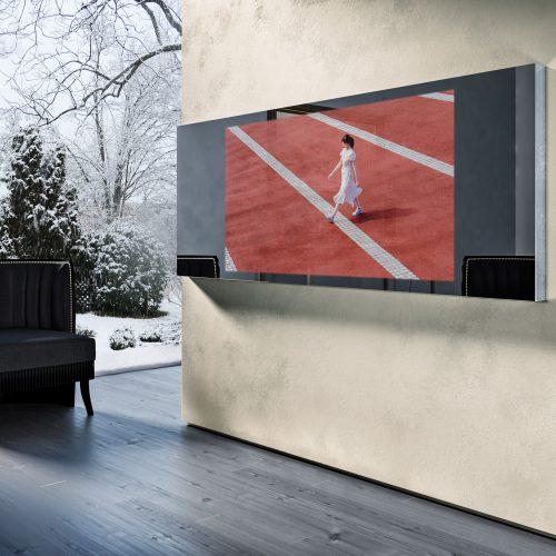 Зеркальный телевизор Tele-Art Mirror Line 65″ Q6W Grafit Mirror