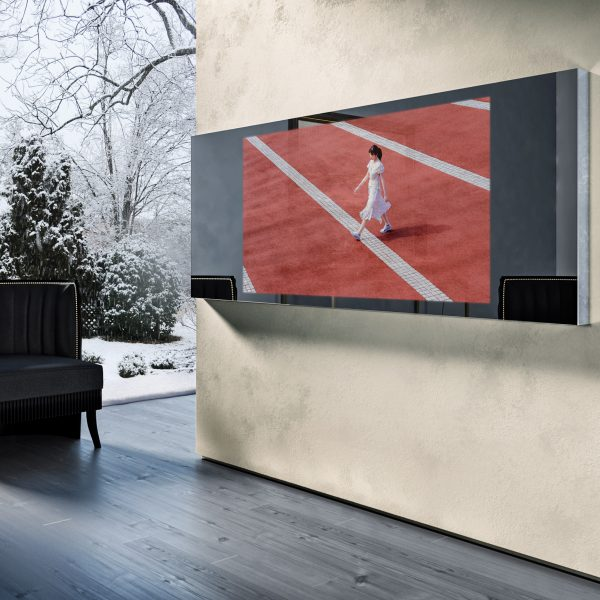 Зеркальный телевизор Tele-Art Q70W Line Mirror Grafit Mirror