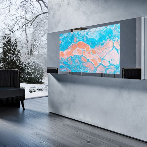 Зеркальный телевизор Tele-Art Mirror Line 65″ Q7W Titan Mirror