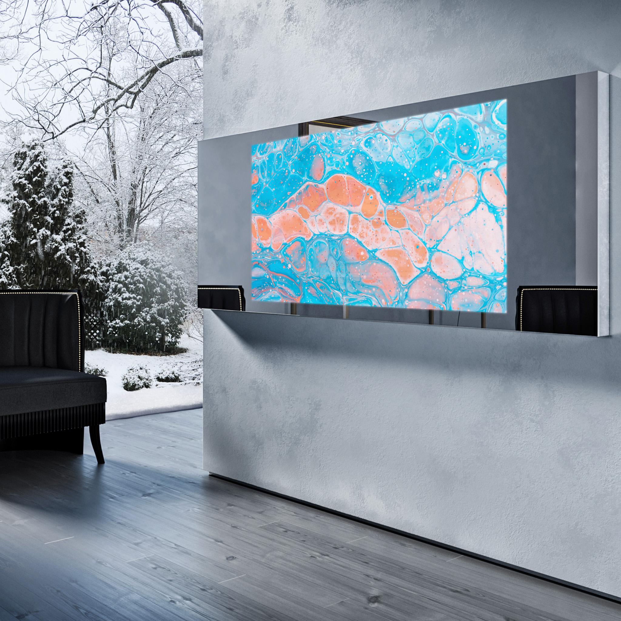 Зеркальный телевизор Tele-Art Q70W Line Mirror Titan Mirror