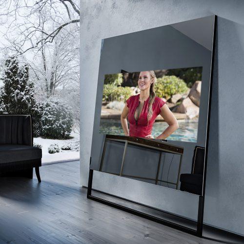 Зеркальный телевизор Tele-Art Soft Minimalism 55″ Q6SM Grafit Mirror