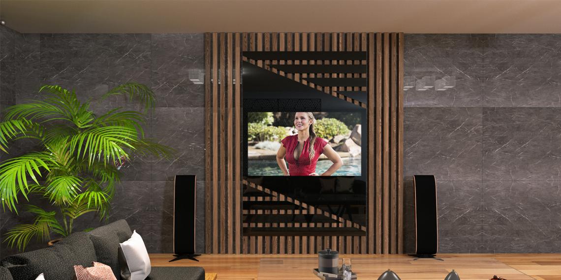брус со встроенным телевизором