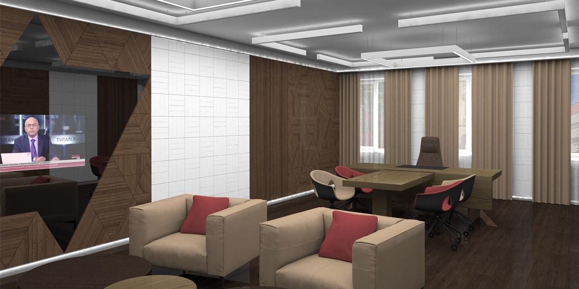 Дизайнерский встроенный телевизор для офиса