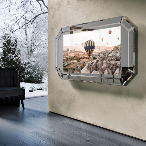 Зеркальный телевизор Tele-Art Diamond Frame 55″ Q7D Light Mirror