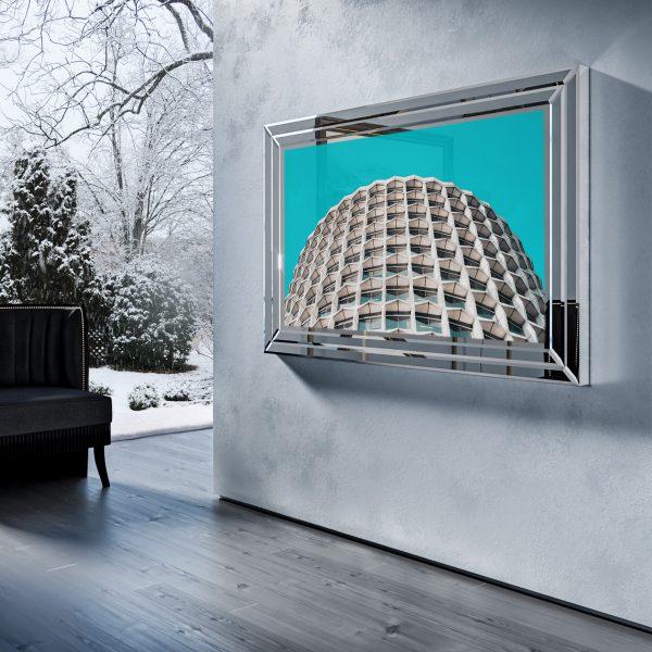 Зеркальный телевизор Tele-Art Q70B Crystal Frame Light Mirror