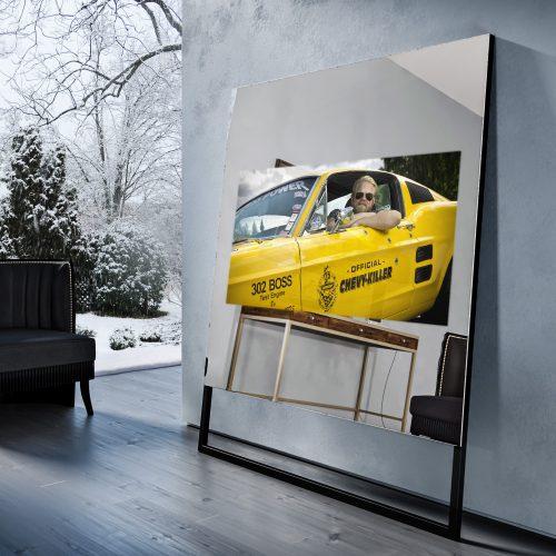 Зеркальный телевизор Tele-Art Soft Minimalism 55″ Q7SM Light Mirror