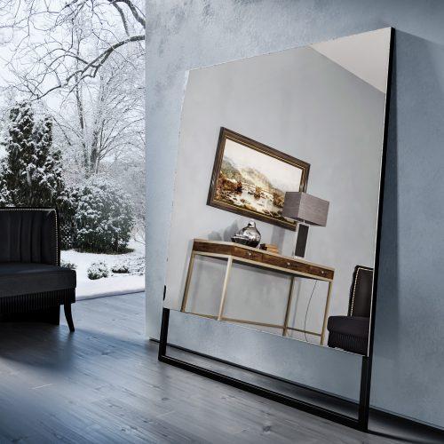 Зеркальный телевизор Tele-Art Soft Minimalism Light Mirror в выключенном состоянии