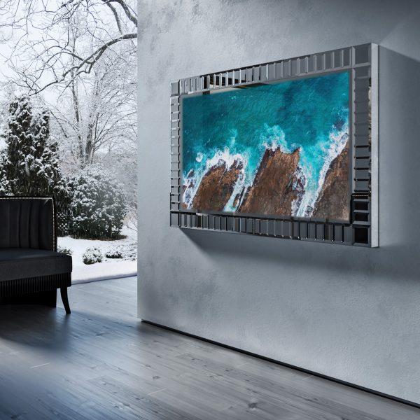 Зеркальный телевизор Tele-Art Royal Frame Q7R Grafit Mirror.