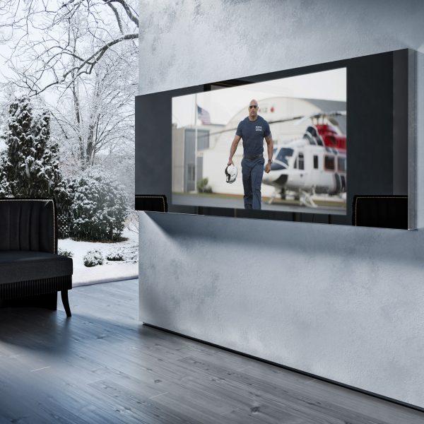 Зеркальный телевизор Tele-Art Q6W Line Mirror Black Glass